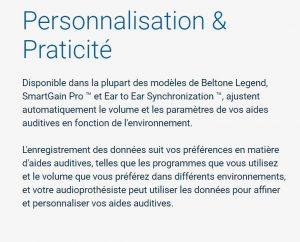 Beltone Legend ajuste automatiquement la puissance du son