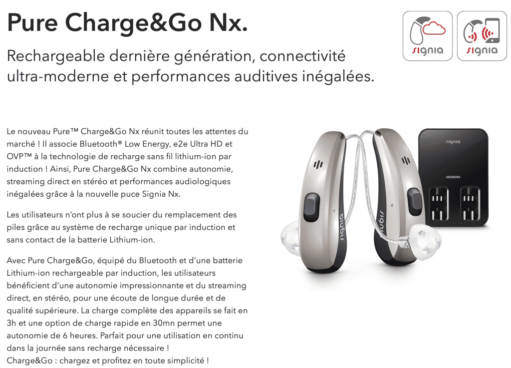 Signia Pure 7nx Charge&Go