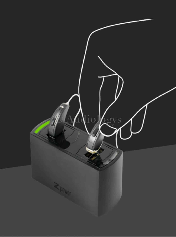 Zpower Hello chargeur pour appareils auditifs sans pile a batteries rechargeables universel