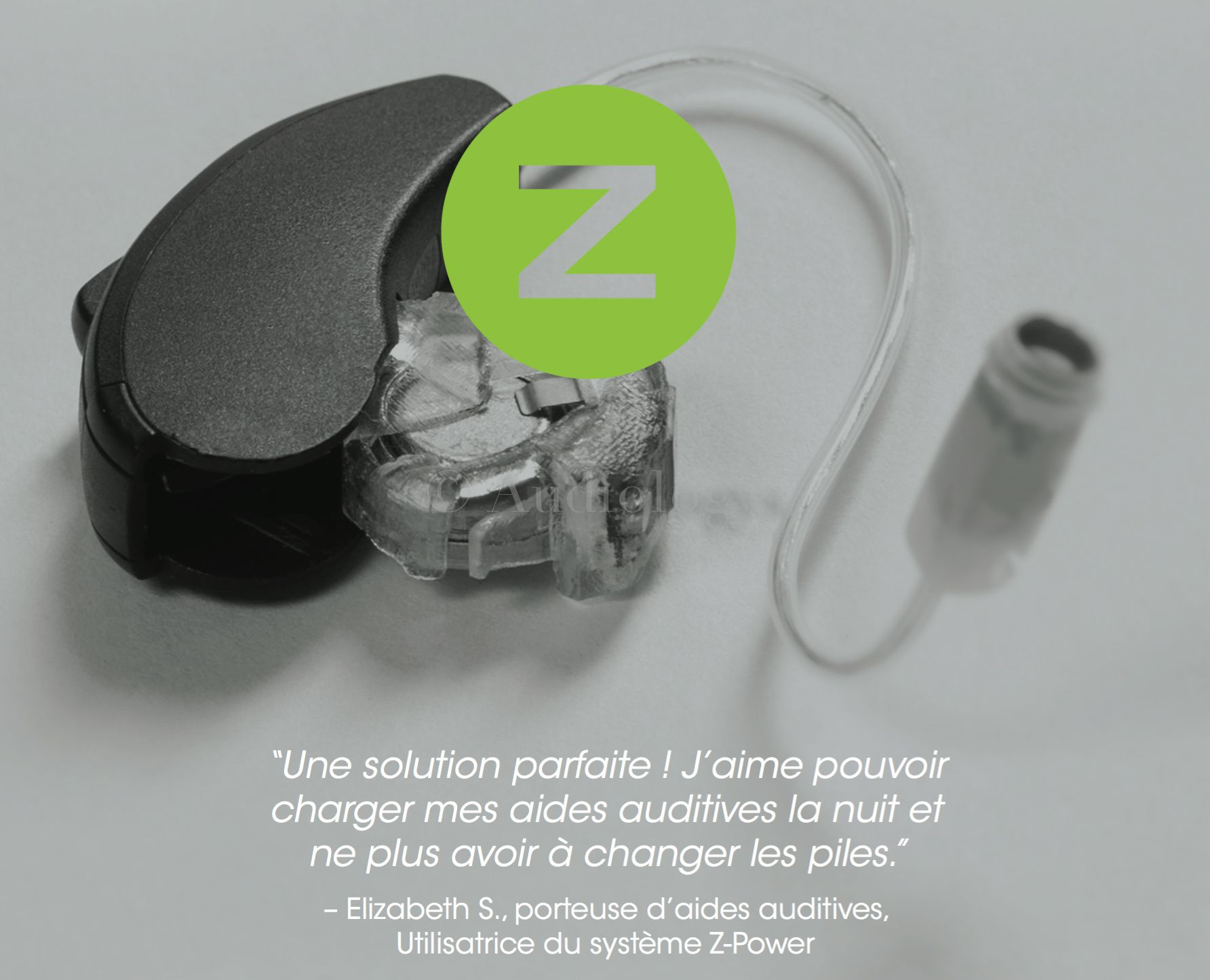 Zpower chargeur pour protheses auditives sans pile a batteries rechargeables universel