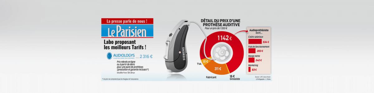 Article le parisien sur le prix des audioprotheses